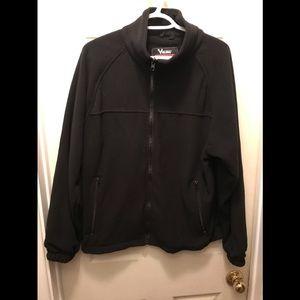 Viking men's black fleece zip up sweater medium